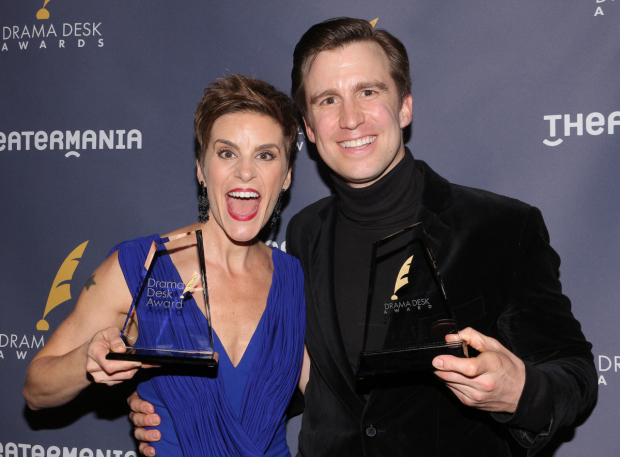 <p>Jenn Colella and Gavin Creel, Outstanding Featured Actress and Actor in a Musical recipients for <em>Come From Away</em> and <em>Hello, Dolly!</em></p><br />(© David Gordon)