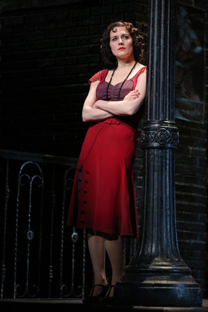 <p>Jennifer Bowles stars in the title role, Irma La Douce.</p><br />(© Joan Marcus)