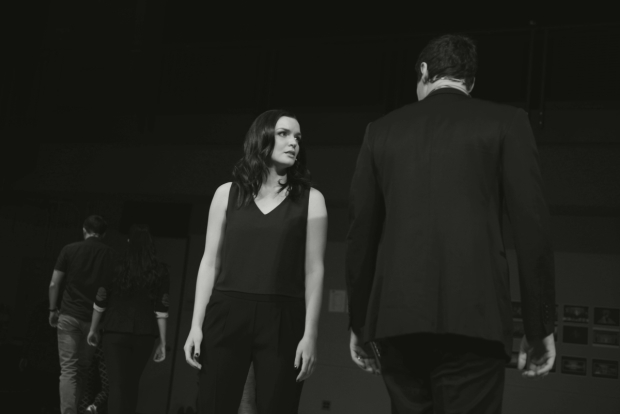 <p>Jennifer Damiano plays Bateman&#39&#x3B;s besotted secretary Jean.</p><br />(© Allison Stock)