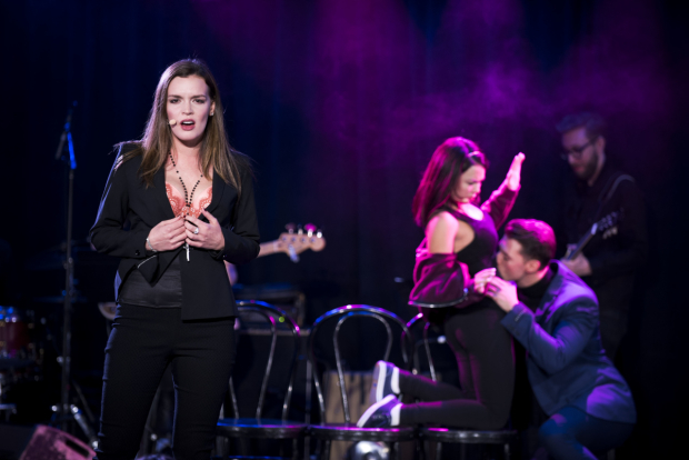 <p>Jennifer Damiano takes center stage in <em>Cruel Intentions: The Musical</em>.</p><br />(© Jenny Anderson)
