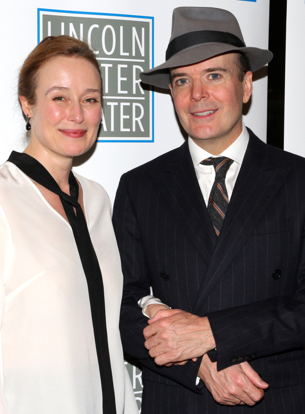 <p>Jennifer Ehle and Jefferson Mays star in <em>Oslo</em> on Broadway.</p><br />(© David Gordon)