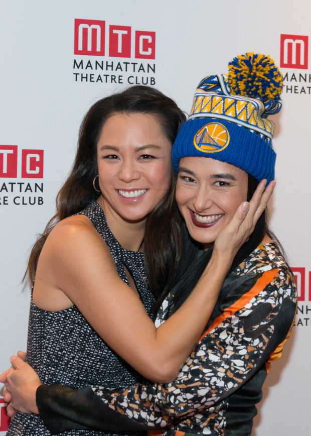 <p>Jennifer Ikeda (right) shares a photo with fellow cast member Samantha Quan.</p><br />(© Allison Stock)
