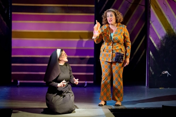 <p>Jennifer Simard and Mary Testa in a scene from <em>Disaster!</em></p><br />Jeremy Daniel