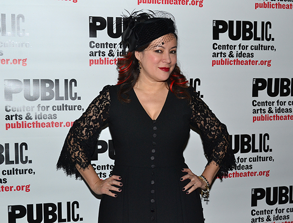 <p>Jennifer Tilly shows off her opening-night ensemble.</p><br />(© David Gordon)