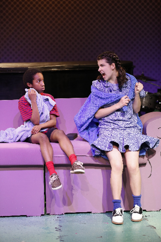 <p>Jeremy T. Villas and Mavis Simpson-Ernst play siblings Linus and Lucy.</p><br />(&copy&#x3B; Carol Rosegg)