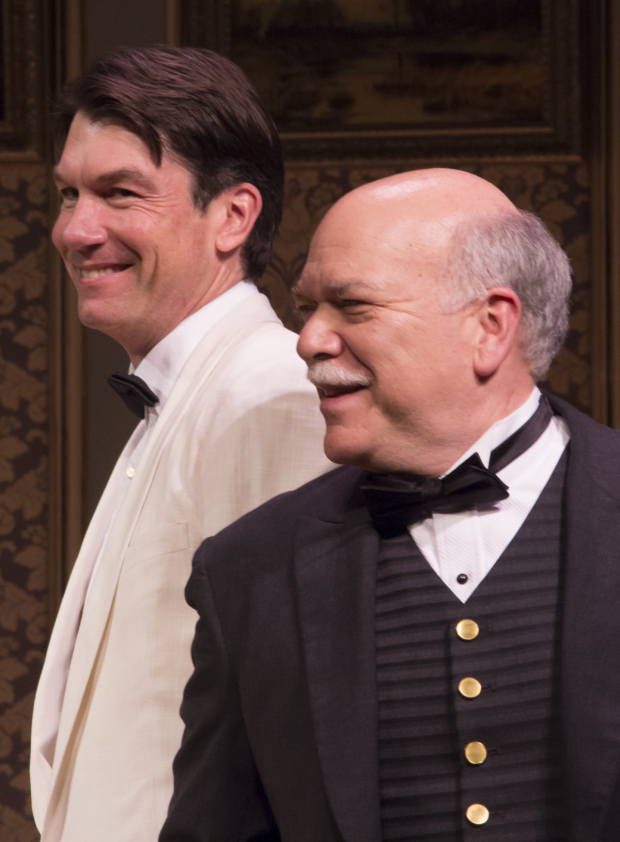 <p>Jerry O&#39&#x3B;Connell and Scott Robertson share the stage during curtain call.</p><br />(© David Gordon)