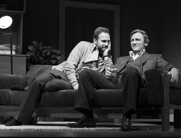 <p>Jerry (Spall) and Robert (Craig) share some quality time.</p><br />(© Brigitte Lacombe)
