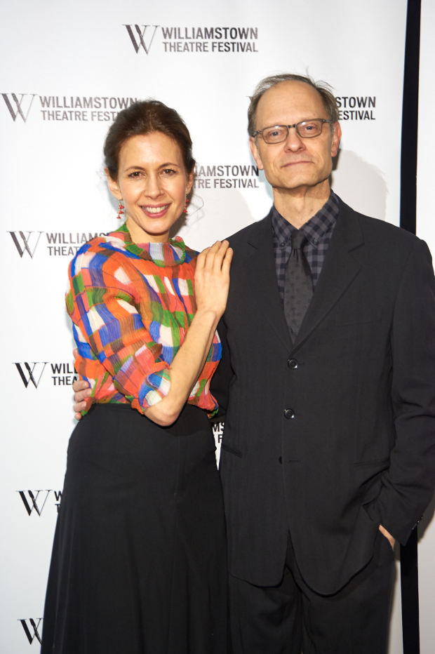<p>Jessica Hecht and David Hyde Pierce served as hosts of the gala.</p><br />(© Richard Mitchell)