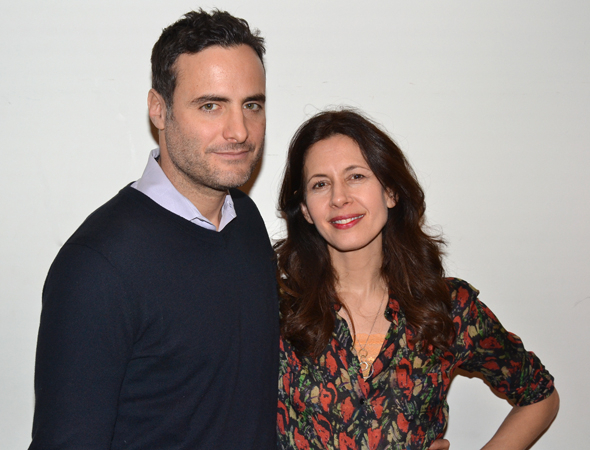 <p>Jessica Hecht and Dominic Fumusa lead the cast of <em>Stage Kiss</em> as a pair of actors who share a romantic history.</p><br />(© David Gordon)