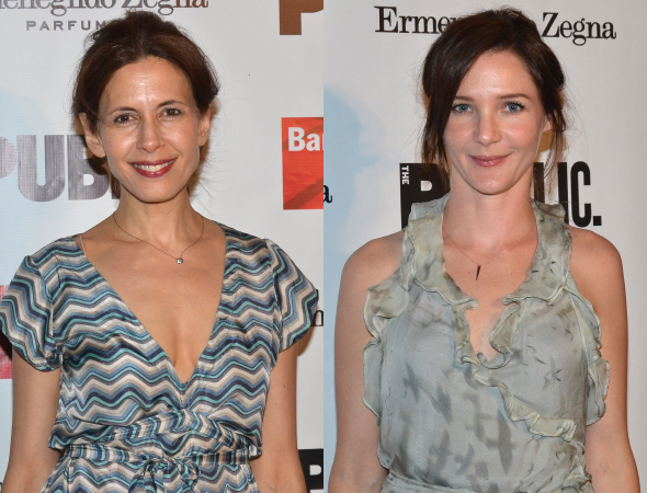 <p>Jessica Hecht and Jessica Collins play Regan and Cordelia.</p><br />(© David Gordon)