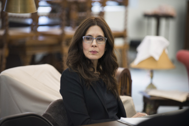 <p>Jessica Hecht in rehearsal for <em>The Price</em>.</p><br />© Jenny Anderson