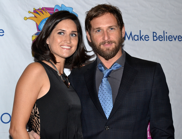<p>Jessica Henriquez and Josh Lucas are all smiles on their way into the Jacobs Theatre.</p><br />(© David Gordon)