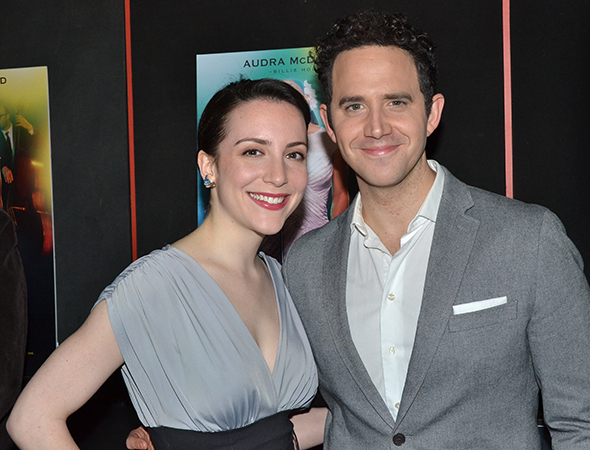 <p>Jessica Hershberg and Santino Fontana are proud to represent Broadway&#39&#x3B;s <em>Cinderella</em> and <em>Act One</em>.</p><br />(© David Gordon)