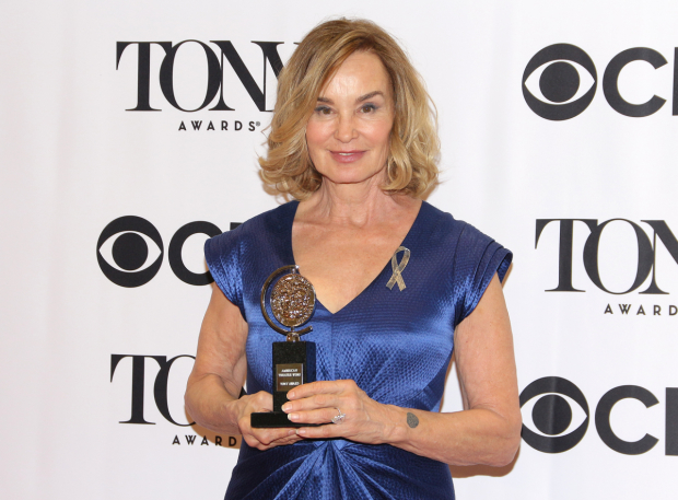 <p>Jessica Lange, Best Actress in a Play winner for <em>Long Day&#39&#x3B;s Journey Into Night</em>.</p><br />(© David Gordon)