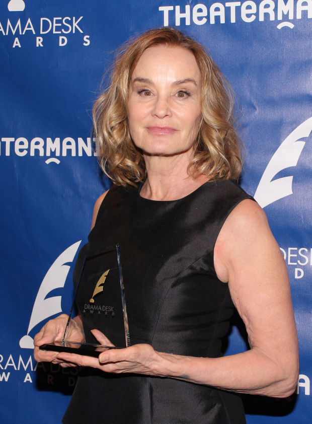 <p>Jessica Lange, Outstanding Actress in a Play winner, <em>Long Day's Journey Into Night</em>.</p><br />(© David Gordon)
