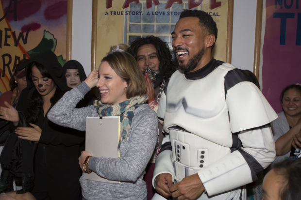 <p>Jessie Mueller and Charl Brown were also on hand to judge the decorating contest.</p><br />(&copy&#x3B; Jeremy Daniel)
