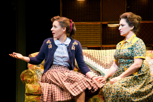 <p>Jessie Mueller and Liz Larsen in a scene from <em>Beautiful — The Carole King Musical</em>.</p><br />(© David Gordon)