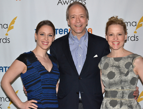 <p>Jessie Mueller, Doug McGrath, and Anika Larsen — nominees for <em>Beautiful — The Carole King Musical</em>.</p><br />(© David Gordon)