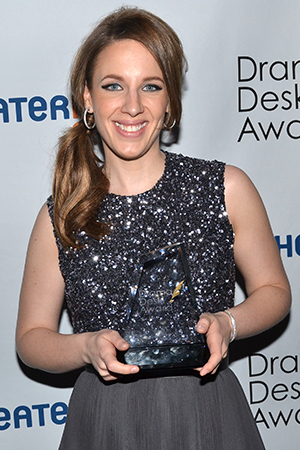<p>Jessie Mueller — Outstanding Actress in a Musical winner for <em>Beautiful — The Carole King Musical</em>.</p><br />(© David Gordon)