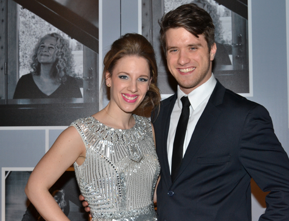 <p>Jessie Mueller, who plays Carole King, spends the evening with her boyfriend, actor Andy Truschinski.</p><br />(© David Gordon)