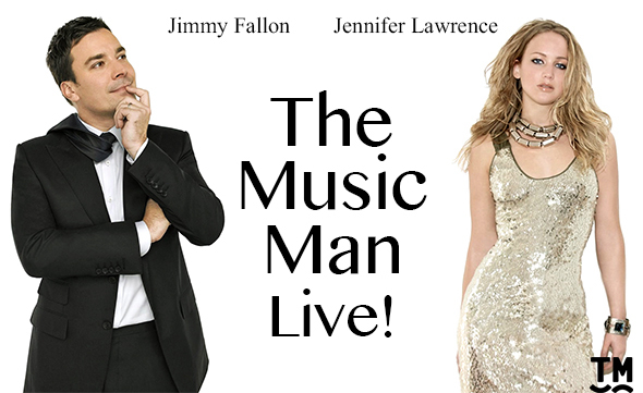 <p><strong>Jimmy Fallon and Jennifer Lawrence in <em>The Music Man</em> </strong><br/>