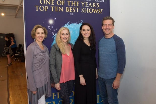 <p>Joanna Glushak, Crystal Kellogg, Christine Dwyer, and Kevin Kern take on the roles of Mrs. du Maurier, Mary Barrie, Sylvia Llewelyn Davies, and J.M. Barrie.</p><br />(&copy&#x3B; Seth Walters)