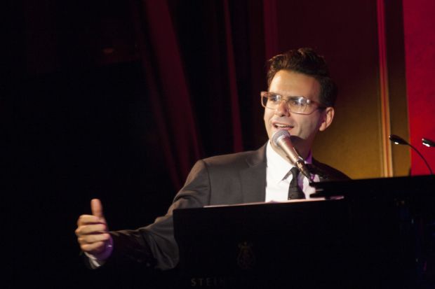 <p>Joe Iconis took a seat at the piano during the evening.</p><br />(© Nella Vera)