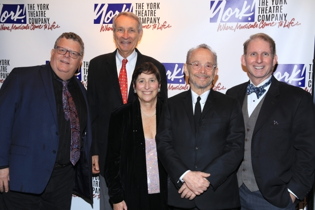 <p>Joel Grey (second from right) joins the York Theatre Company staff for a photo.</p><br />(© Tricia Baron)