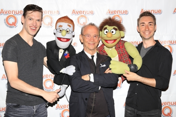 <p>Joel Grey takes a photo with Ben Durocher, Rod, Ricky, and Jason Jacoby.</p><br />(© Tricia Baron)
