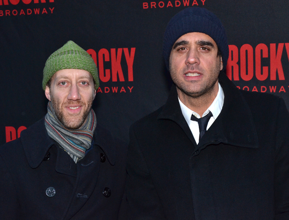 <p>Joey Slotnick and Bobby Cannavale pal around before the show.</p><br />(© David Gordon)