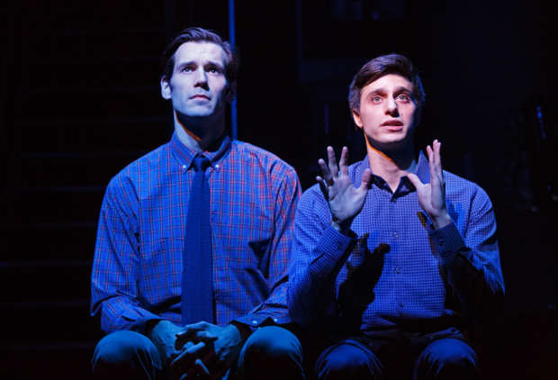 <p>John Behlmann and Gideon Glick in a scene from <em>Significant Other</em>.</p><br />(© Joan Marcus)