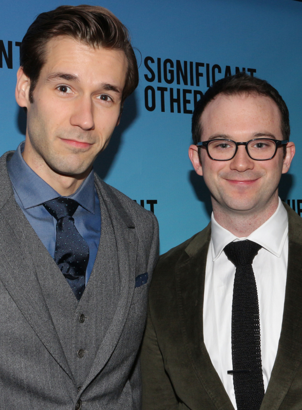 <p>John Behlmann and Luke Smith both appear as several different characters in <em>Significant Other</em>.</p><br />(© David Gordon)