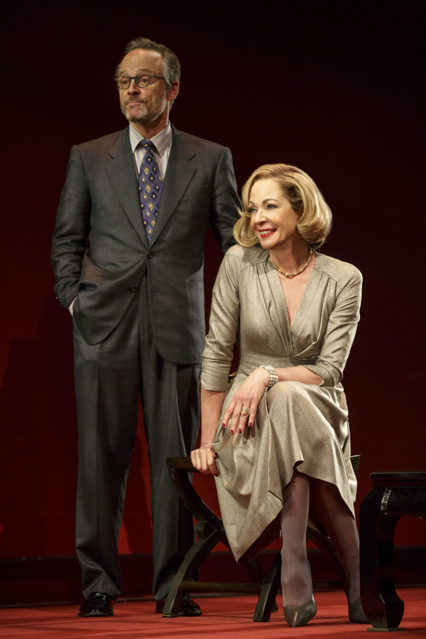 <p>John Benjamin Hickey and Allison Janney lead the cast of <em>Six Degrees of Separation</em>.</p><br />(© Joan Marcus)