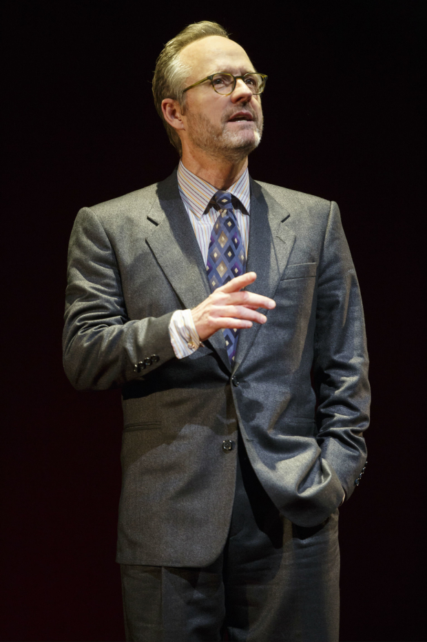 <p>John Benjamin Hickey stars as Flan.</p><br />(© Joan Marcus)