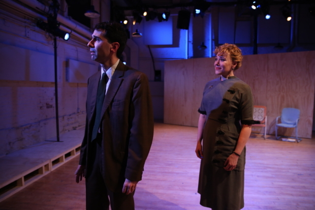 <p>John Cariani and Emily Skinner have a moment in <em>Picnic</em>.</p><br />(© Carol Rosegg)