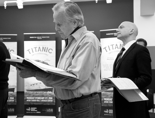 <p>John Cunningham and Michael Cerveris join the cast in rehearsal.</p><br />(© David Gordon)