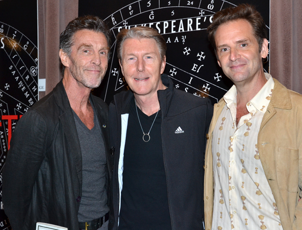 <p>John Glover, Byron Jennings, and Malcolm Gets play the production's Witches.</p>