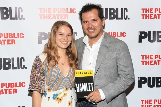 <p>John Leguizamo and daughter Allegra took in the performance.</p><br />(© Tricia Baron)