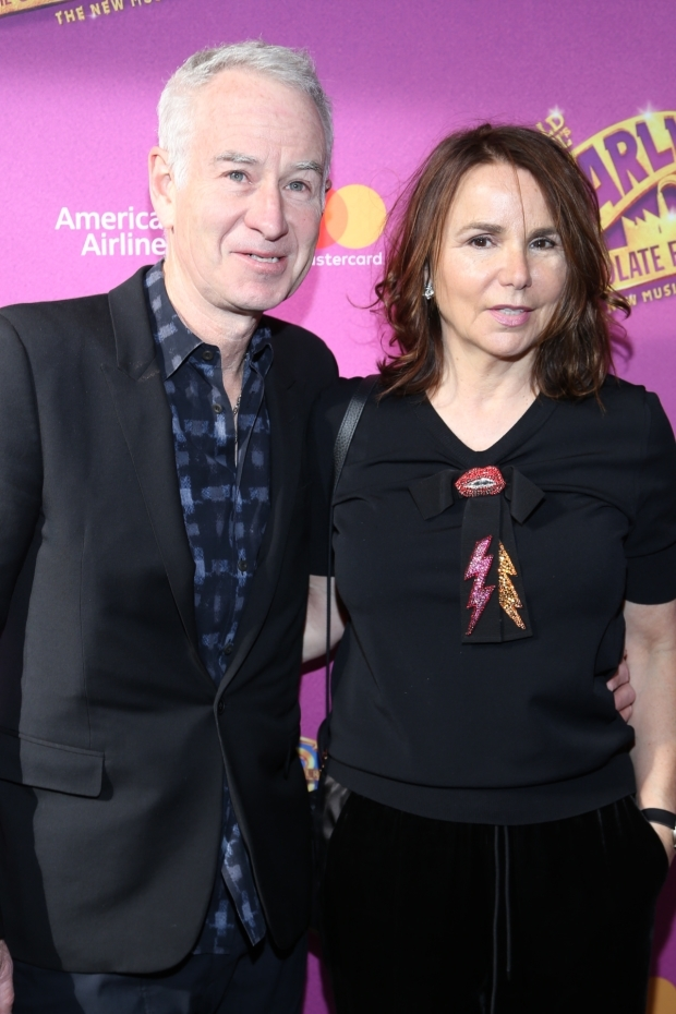 <p>John McEnroe and Patti Smyth walk the red carpet.</p><br />(© Tricia Baron)