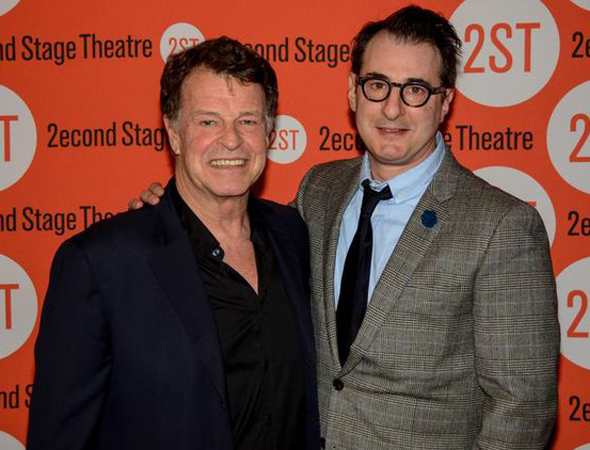 <p>John Noble poses with playwright Jon Robin Baitz.</p><br />(© Nessie Nankivell)