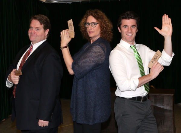 <p>John Treacy Egan, Judy Gold, and Kevin Zak play Newt Gingrich, Eleanor Roosevelt, and Kenneth Starr.</p><br />(© David Gordon)