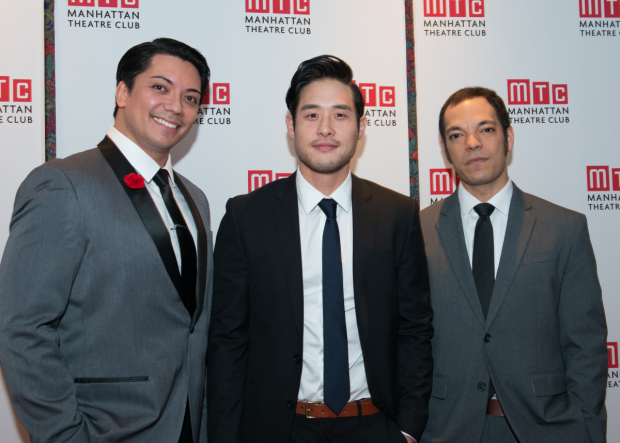 <p>Jon Hoche, Raymond Lee, and Paco Tolson complete the cast of <em>Vietgone</em>.</p><br />(© Allison Stock)