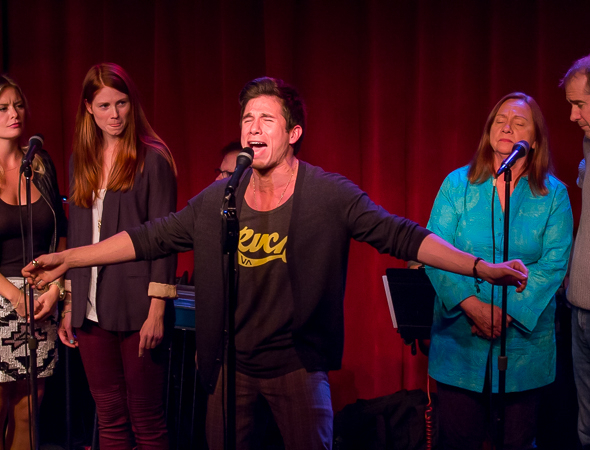 <p>Jon Rua brings down the house as his costars look on.</p><br />(© Seth Walters)