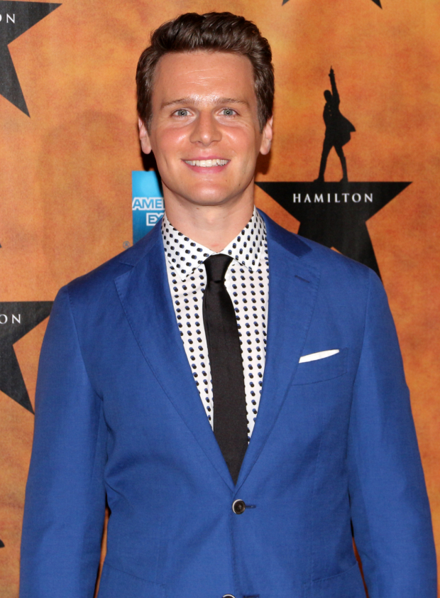 <p>Jonathan Groff completes the principal cast as King George III.</p><br />(© David Gordon)