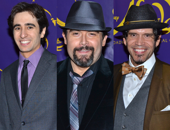 <p>Jonathan Schwartz, Brian Gonzales, and Brandon O&#39&#x3B;Neill play Aladdin&#39&#x3B;s pals, Omar, Babkak, and Kassim, respectively.</p><br />(© David Gordon)