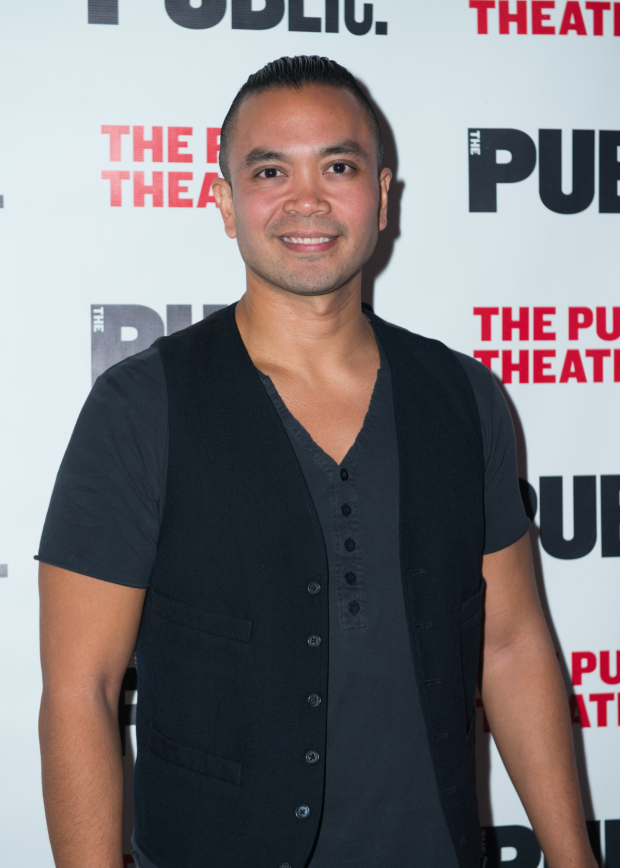 <p>Jose Llana appeared in <em>Here Lies Love</em> at the Public.</p><br />(© Allison Stock)
