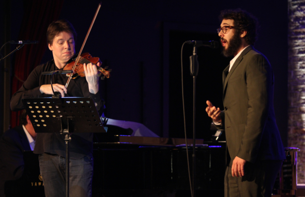 <p>Joshua Bell and Josh Groban performed together.</p><br />(© Henry McGee)