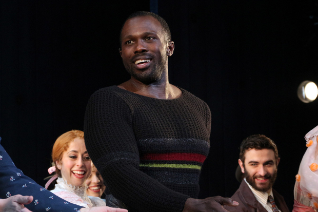 <p>Joshua Henry comes out for his curtain call.</p><br />(© David Gordon)