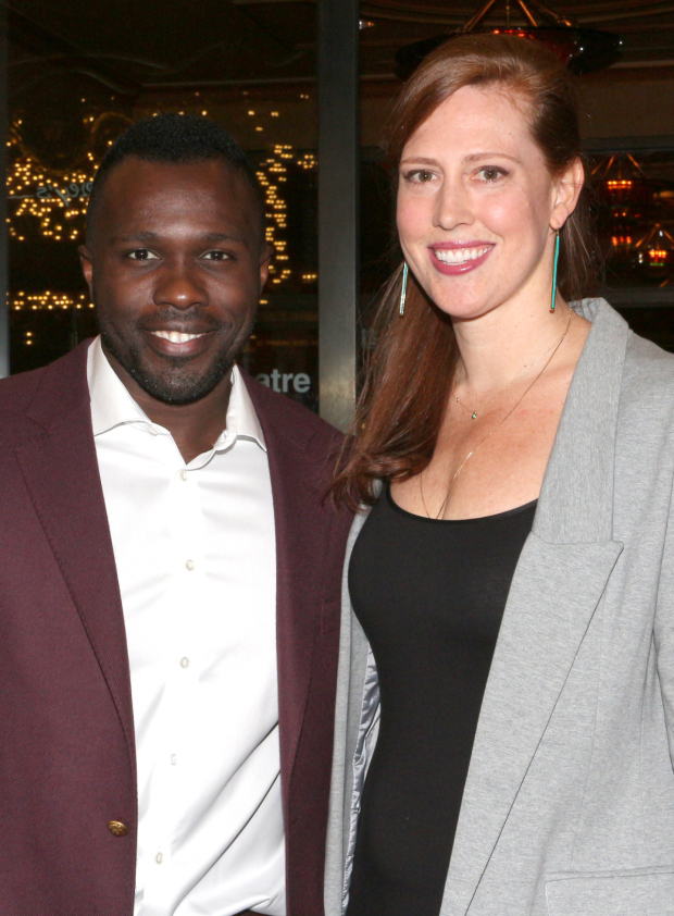 <p>Joshua Henry (seen here with his wife, Cathryn) starred in Roundabout&#39&#x3B;s 2014 revival of <em>Violet</em> at the American Airlines Theatre.</p><br />(© David Gordon)