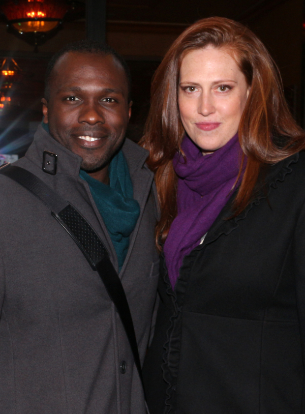 <p>Joshua Henry (seen here with his wife, Cathryn Stringer) is currently preparing for a Broadway return in <em>Shuffle Along</em>.</p><br />(© David Gordon)